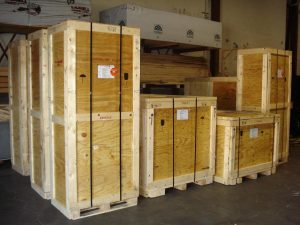 Custom Built Crates Stacked