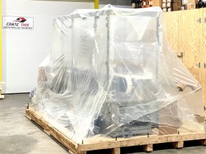 Image of water proof vapor barrier packaging on machinery