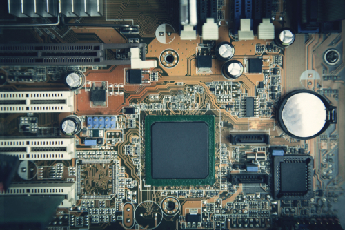 An example of a motherboard